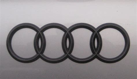 Custom Blackout Audi Trunk Emblem  My Gunmetal Trunk