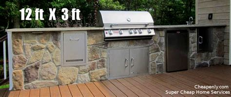 complete cheap outdoor kitchen  houston