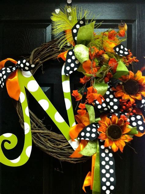 fall holiday monogram wreath abcdefghijklmnopqrstuvwxyz pinterest