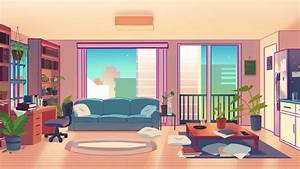 living room background for animation collab by Walrushit ...