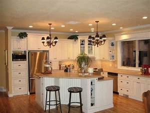 comment meubler votre cuisine semi ouverte With kitchen colors with white cabinets with candle holder types