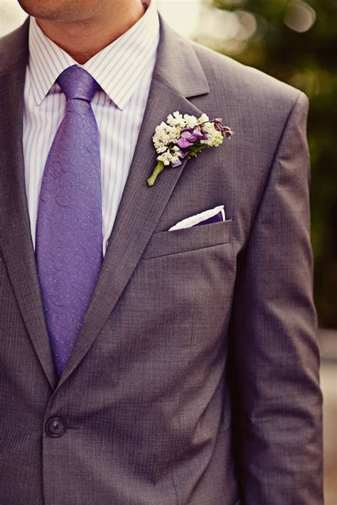 Groom's Attire  Gray Suit With Purple Tie!ohhh Where