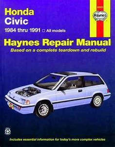 Honda Civic 1984 1991 Haynes Service Repair Manual