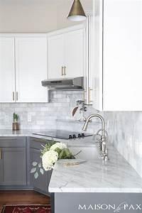 gray white marble kitchen reveal 883