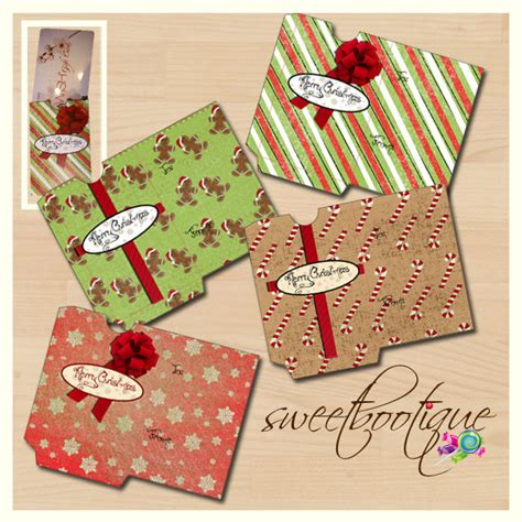 christmas gift card holders diy printable by sweetbootique