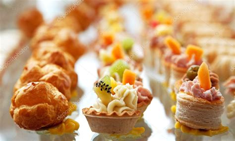 Food For Cocktail On Wedding Party — Stock Photo © Dp3010