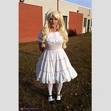 Homemade Broken Doll Costume | 508 x 777 jpeg 214kB