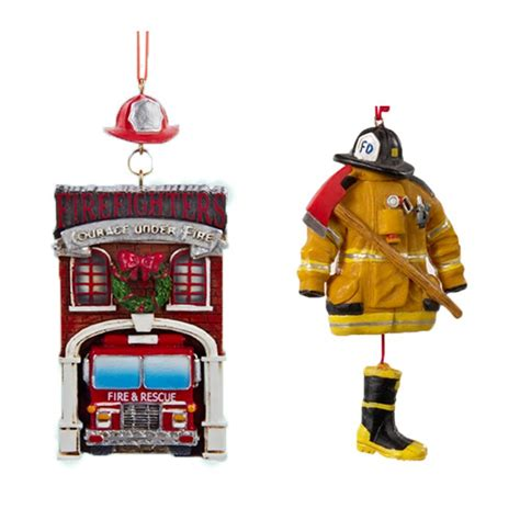firefighter christmas ornament set great gifts for