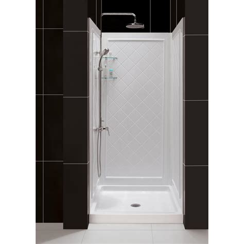 dreamline shower base dreamline slimline 36 in x 36 in single threshold shower