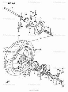 Suzuki Motorcycle 1995 Oem Parts Diagram For Rear Wheel