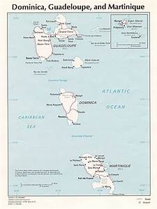 Dominica Guadeloupe And Martinique Map