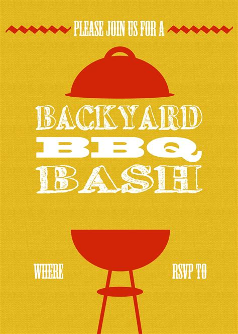 bbq invite template projects   bbq party picnic