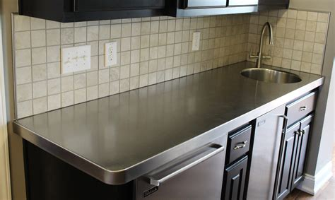 Countertops Stainless Steel - 18 kitchen countertop options and ideas for 2019