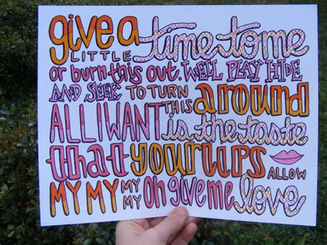 Give Me Love Lyric Drawing. .00, Via Etsy.