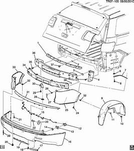 Gmc Acadia Liner  Fuel Door  U0026 Body Side  Liner  Rr W  H