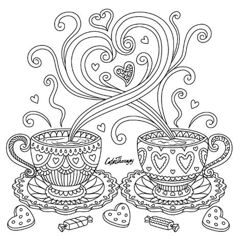 Coloring Therapy by Coffee Coloring Page Color Therapy App Try This