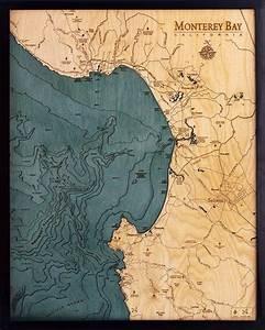 Great Straits Chart Monterey Bay Depth Chart 3d Laser Cut Map Of Monterey Bay