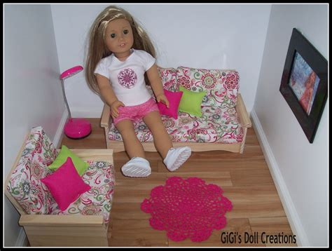 American Doll Living Room Plans by Gigi S Doll And Craft Creations 18 Inch Doll Furniture