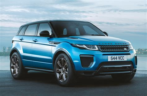 blue land rover range rover evoque landmark edition gets special shade of