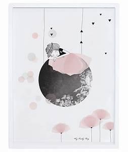 affiche encadree chambre d39enfant et bebe sieste With affiche chambre bébé avec fauteuil fleur design
