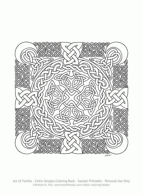 Celtic Adult Coloring Pages Az Coloring Pages