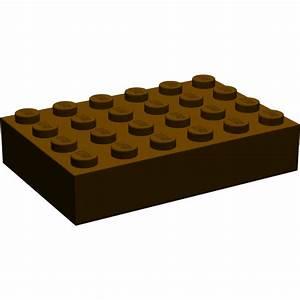 LEGO Dark Brown Brick 4 x 6   Brick Owl - LEGO Marketplace
