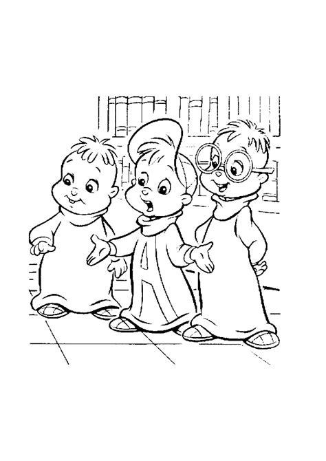 Alvin En De Chipmunks Kleurplaat by Alvin And The Chipmunks Verhaaltje Vertellen Alvin And