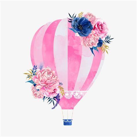 pink hot air balloon   pink drawing doddle art
