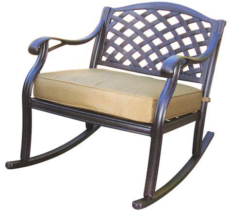 patio furniture seating club rocker cast aluminum