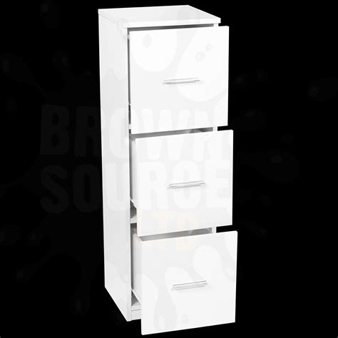 hygena chest of drawers bath cabinet white high gloss 3