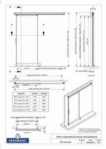 Plan Porte Coulissante : porte coulissante de service ~ Melissatoandfro.com Idées de Décoration