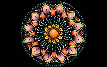 Wallpapers Mandala Flower Orange Mandalas Desktop Fondos