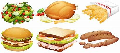 Kinds Vector Many Fast Graphics Illustration Eating
