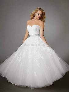 2014 white ivory ball gown strapless white lace wedding With white strapless wedding dress