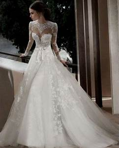 lace wedding dresses with open back and sleeves Naf Dresses