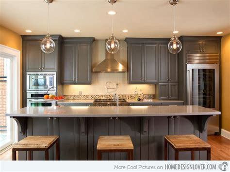 15 Warm And Grey Kitchen Cabinets