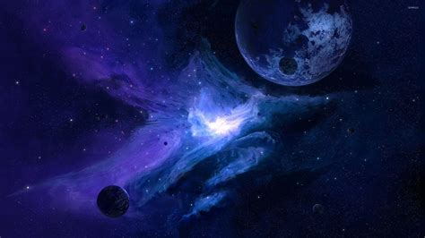 blue galaxy planet in the blue galaxy wallpaper space wallpapers