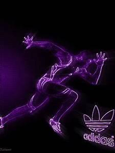 Download Adidas logo neon Mobile Screensavers