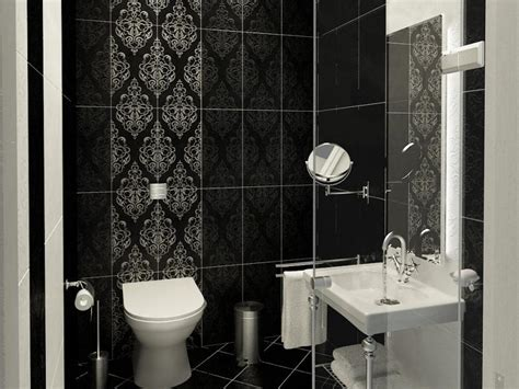 cozy contemporary small bathrooms with stylish wallpaper