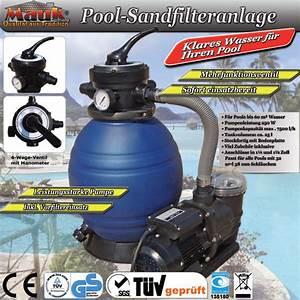 Pumpe Für Sandfilteranlage : mauk sandfilteranlage mit pumpe 7500 l h b ware ihp ~ Frokenaadalensverden.com Haus und Dekorationen