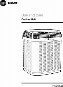 Trane Air Conditioner  Heat Pump Outside Unit  Manual L0904653