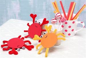 Basteln Mit Kindern Sommer Und Ganzjährig : krebse diy basteln mit kindern kindergeburtstag produziert f r kindi sommer ~ Frokenaadalensverden.com Haus und Dekorationen