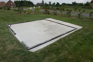 Dalle De Jardin Beton : comment fixer un abris de jardin sur une dalle beton ~ Melissatoandfro.com Idées de Décoration