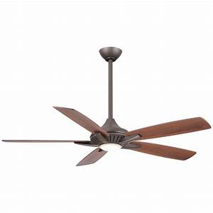 Minka aire fans dyno oil rubbed bronze led ceiling fan