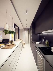 modern kitchen design ideas galley kitchens maximizing With kitchen colors with white cabinets with presse papier windows 10