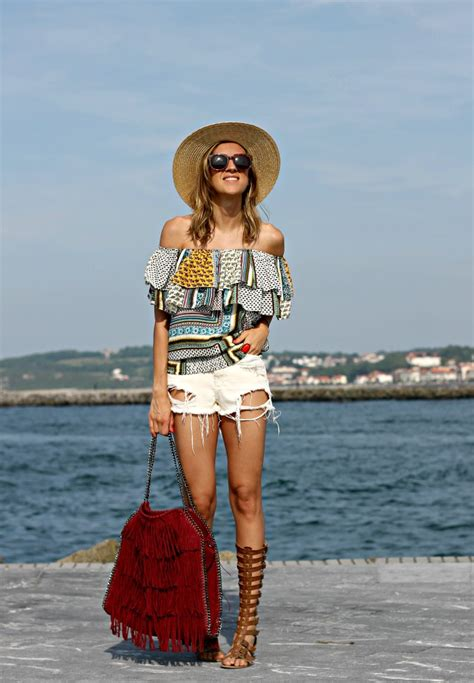 de playa  shorts vaqueros   chic