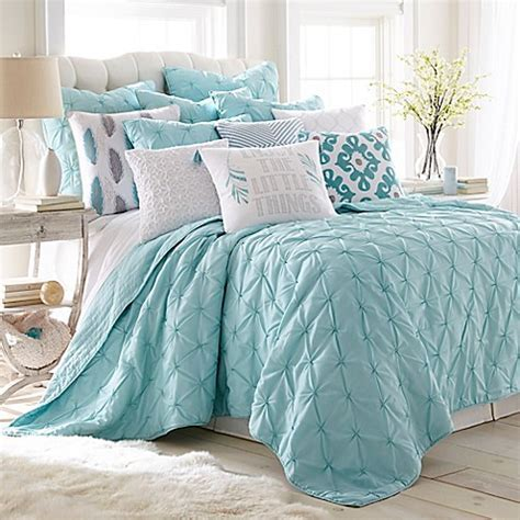 Levtex Home Elia Quilt Set in Teal   Bed Bath & Beyond