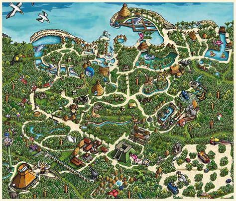 mapa de xcaret xcaret park map  takes