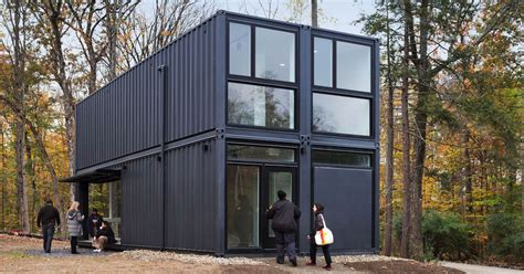 shipping containers create modern media lab  bard