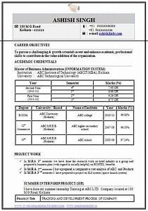 Mba Resume Format For Freshers Pdf Mba Information Technology It Resume Format Resume